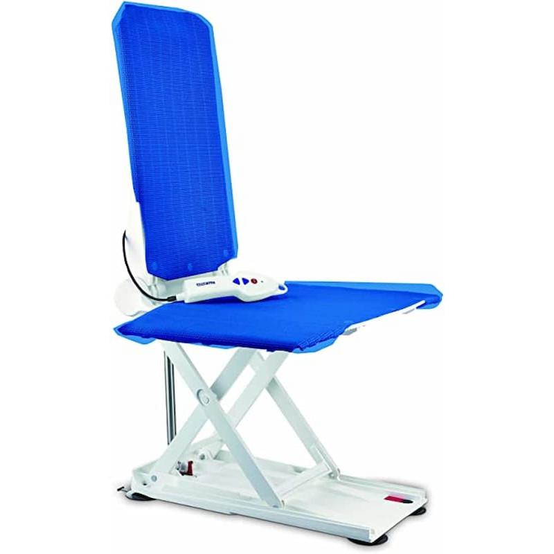 Invacare Kit Elevador Banheira Orca + Base Transferência Rotativa Aquatec Azul - Ortopedia Barreiros